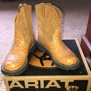 Gently used Ariate Fatbaby cognac boots